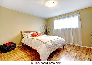 Bedroom interior with modern bed