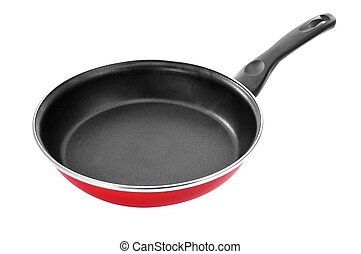 non-stick frying pan - a non-stick frying pan on a white...