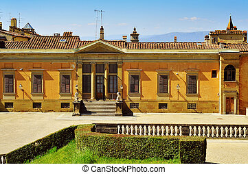 back view of Palazzo Pitti in Florence, Italy - back view of...