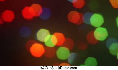 out of focus color lights close-up HD