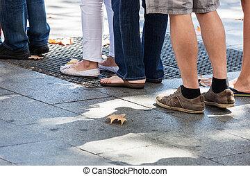 a turn on sidewalk - turn on the sidewalk in the city