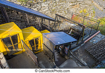 Slate mine in the mountains of Snowdonia, Wales