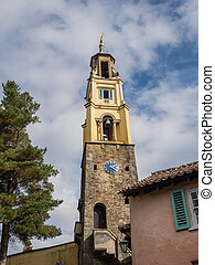Italian inspired ornate buildings in Portmeirion - Bell...