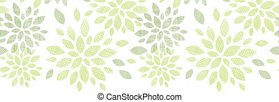 Fabric textured abstract leaves horizontal seamless pattern...