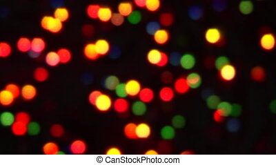 out of focus color lights