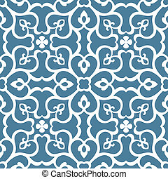 Seamless floral tiling pattern. Inspired by old ornaments