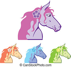 Horse head - horse head vector illustration clip-art eps