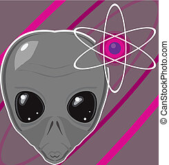 Alien Galaxy - alien galaxy vector illustration clip-art eps