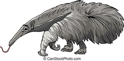 anteater animal cartoon illustration - Cartoon Illustration...