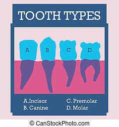 Dental design over pink background, vector illustration