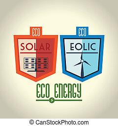 Energy design over beige background, vector illustration