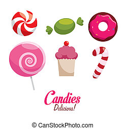 Candy design - Candy over white background, vector...