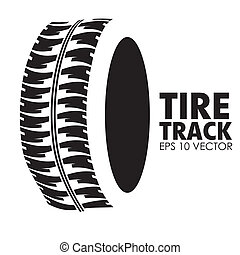 Tire design over white background, vector illustration