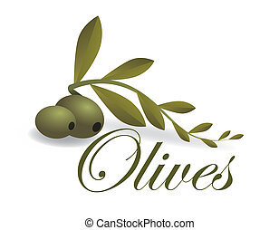 Olives design over white background, vector illustration