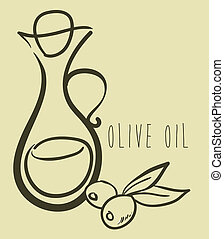 Olives design over beige background, vector illustration