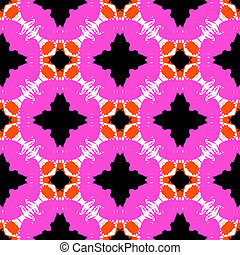 hand painted pattern with bold ethnic motifs
