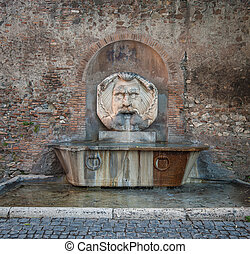 Fountain in Aventine Hill, Rome, Italy