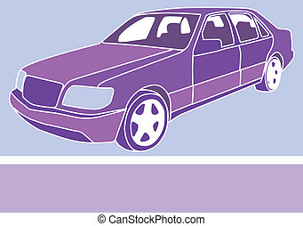 Sedan color - sedan color vector illustration clip-art eps