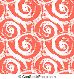 Seamless pattern with bold swirling brush strokes - Vector...