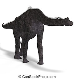 Brachiosauridae - giant dinosaur brachiosaurus With Clipping...