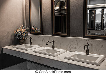 Classic style interior design of a bathroom