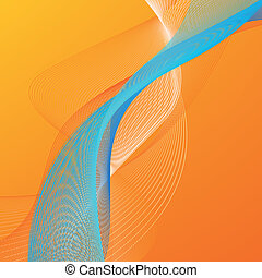 Abstract background with orange and blue lines