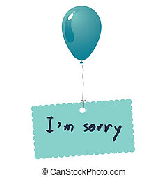 Im sorry card vector - image of Im sorry card vector isolate...
