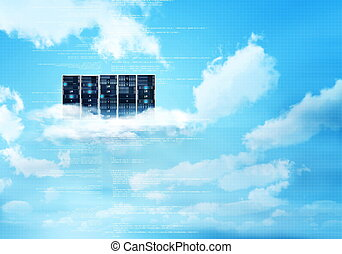 Internet Cloud Server - Internet cloud server concept with...