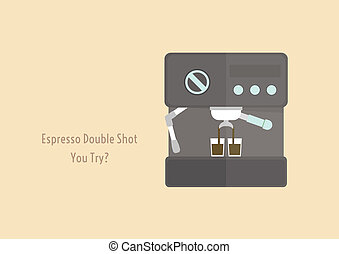 coffee machine - espresso machine brewed espresso double...