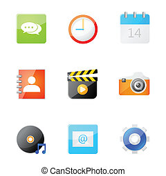 mobileicon - Set of application icon on smartphone