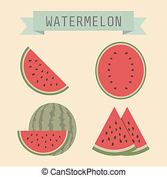 watermelon - set of watermelon with sign