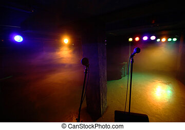 Mic and reflectors - Silhouette of microphones