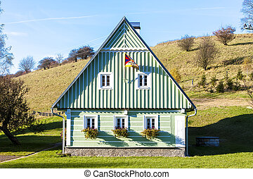 verde, cottage, ceco, repubblica