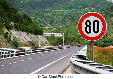 Speed limit on a highway - Speed limit - 80