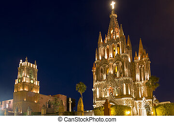 Church in San Miguel - La Parroquia (Church of St. Michael...