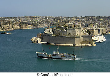 malta - Valetta harbor view, Capital of Malta island