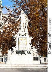 Mozart statue in Hofburg Palace garden, Vienna, Austria