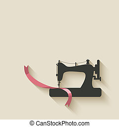 sewing machine background - vector illustration eps 10