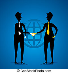 business deal or agreement vector