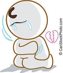 broken hart sad - He broken hart and very sad