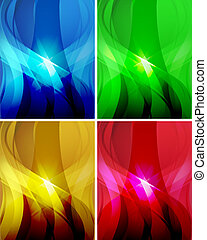 Set of abstract wavy backgrounds 2