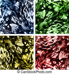 Set of abstract wavy backgrounds entangled