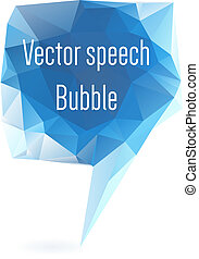 Abstract geometrical speech bubble