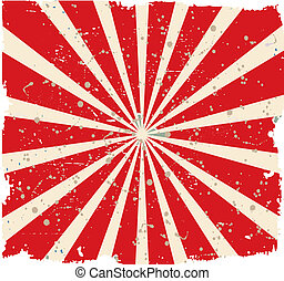 Vintage faded background. Retro red and yellow stripes