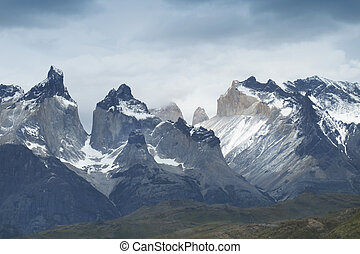 Torres del Paine peaks. Chile. South America. Horizontal