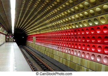 Prague Metro Underground Station - Prague metro underground...