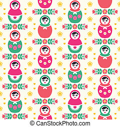 Russian doll Matryoshka pattern