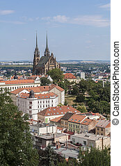 Brno, Czech Republic. - Panoramic view of the City of Brno,...