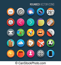Rounded Vector Icons Set