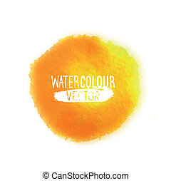 Watercolour Vector Element - A clean and simple watercolour...